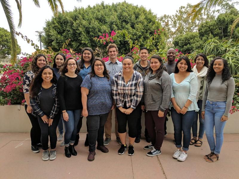 Group photo of peer advisors